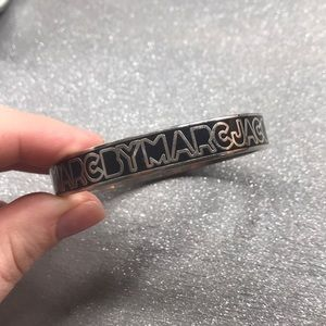 Marc by Marc jacobs black and silver monogram cuff